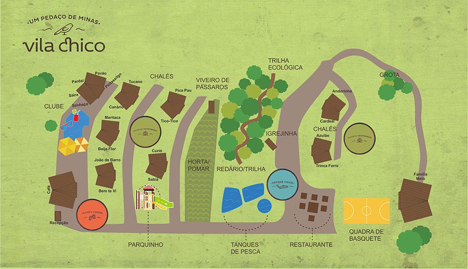 mapa ilustrativo Vila Chico